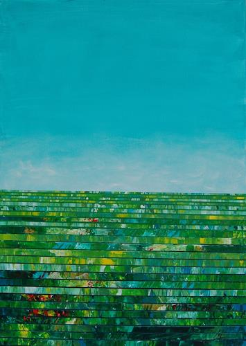 Monika Lupp, Sonntag, Landschaft, Expressionismus