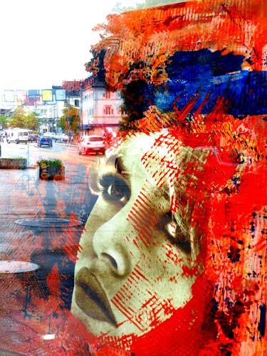 Elke Arndt, Brigitte bei mir in der kunst Apotheke, Romantik, Pop-Art, Abstrakter Expressionismus