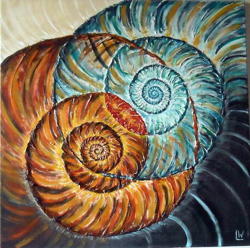 Maria und Wolfgang Liedermann, Zwei verliebte Ammoniten, Abstraktes, Natur: Gestein, Gegenwartskunst