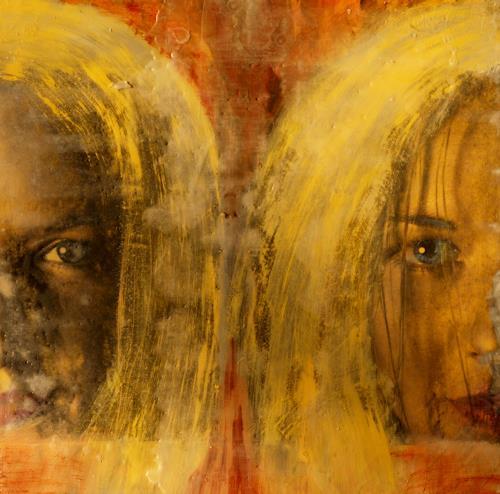 Maria und Wolfgang Liedermann, Marina 1, Menschen: Gesichter, Abstraktes, Gegenwartskunst, Abstrakter Expressionismus