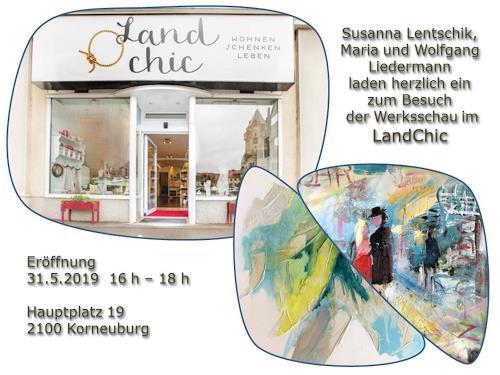 Maria und Wolfgang Liedermann, Einladung LandChic, Dekoratives, Abstrakte Kunst