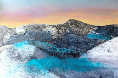 Maria und Wolfgang Liedermann, Sound of Silence, Abstraktes, Landschaft: Berge, Gegenwartskunst, Expressionismus
