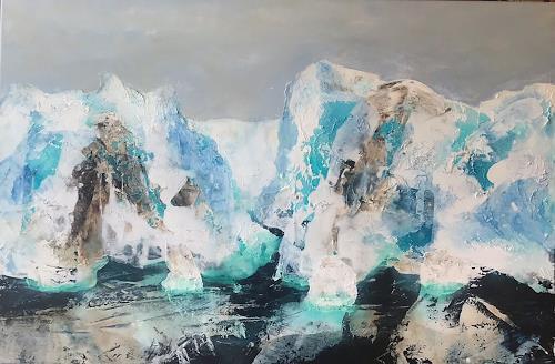 Maria und Wolfgang Liedermann, Grönland 2, Landschaft: See/Meer, Landschaft: Berge, Gegenwartskunst, Expressionismus