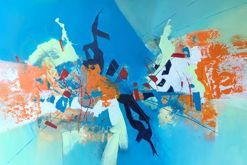 Maria und Wolfgang Liedermann, OT 20190902, Abstraktes, Abstrakte Kunst