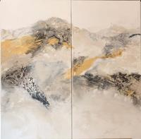 Maria-und-Wolfgang-Liedermann-Landschaft-Berge-Abstraktes-Moderne-Abstrakte-Kunst