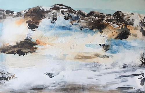 Maria und Wolfgang Liedermann, Berge 2, Landschaft: Berge, Abstraktes, Gegenwartskunst, Expressionismus