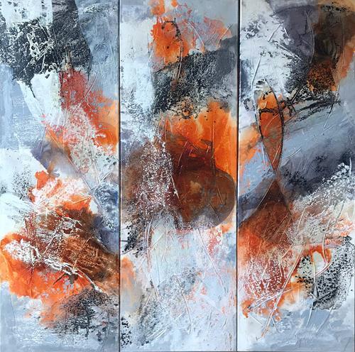 Maria und Wolfgang Liedermann, El Condor Pasa, Abstraktes, Gegenwartskunst, Expressionismus