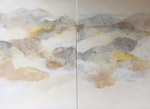 Maria und Wolfgang Liedermann, Nebelberge 5, Abstraktes, Landschaft: Berge, Gegenwartskunst