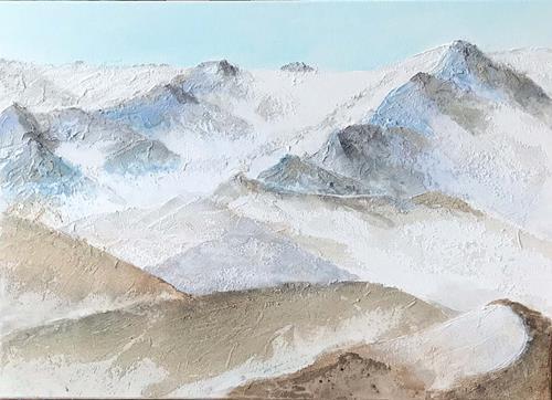 Maria und Wolfgang Liedermann, Im Hochgebirge, Landschaft: Berge, Gegenwartskunst