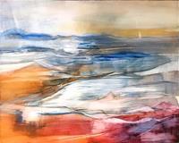 Maria-und-Wolfgang-Liedermann-Abstraktes-Landschaft-See-Meer-Gegenwartskunst-Gegenwartskunst