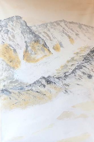 Maria und Wolfgang Liedermann, Der letzte Gletscher, Landschaft: Berge, Gegenwartskunst
