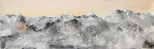 Maria und Wolfgang Liedermann, Champagnerberge 5, Landschaft: Berge, Gegenwartskunst, Expressionismus