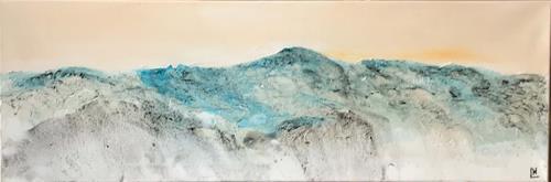 Maria und Wolfgang Liedermann, Champagnerberge 8 Blue Mountains, Landschaft: Berge, Gegenwartskunst