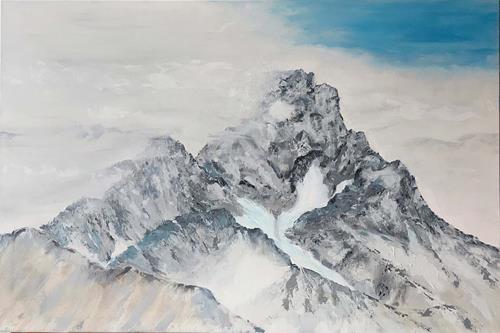 Maria und Wolfgang Liedermann, Das Wetter ändert sich, Landschaft: Berge, Gegenwartskunst, Expressionismus
