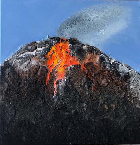 Maria und Wolfgang Liedermann, Vulkan 6, Landschaft: Berge, Gegenwartskunst