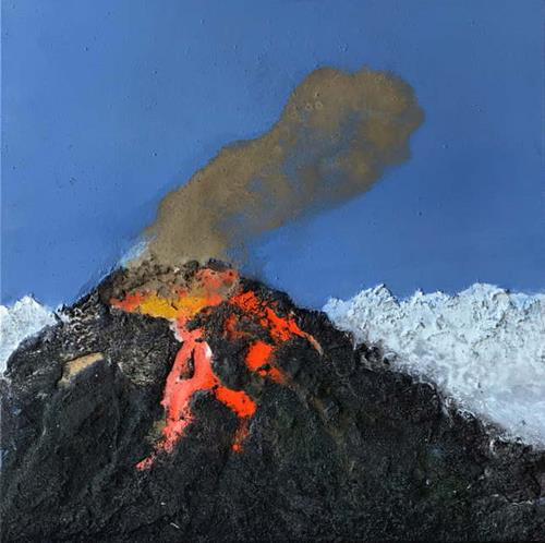 Maria und Wolfgang Liedermann, Vulkan 5, Landschaft: Berge, Gegenwartskunst