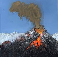 Maria-und-Wolfgang-Liedermann-Landschaft-Berge-Natur-Feuer-Gegenwartskunst-Gegenwartskunst