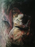 edeldith-Menschen-Frau-Gefuehle-Angst-Moderne-expressiver-Realismus