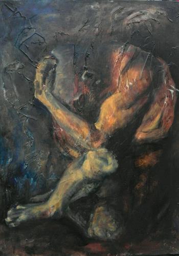 Edeldith, Der Täter und das Opfer, Menschen: Mann, Gefühle, expressiver Realismus, Abstrakter Expressionismus
