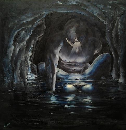 Edeldith, Anstieg des Wasserspiegels, Fantasie, Akt/Erotik, Symbolismus, Abstrakter Expressionismus