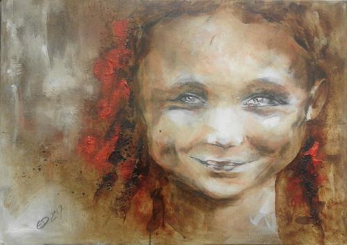 Edeldith, Mädchen mit Zöpfen, Menschen, Gefühle, expressiver Realismus