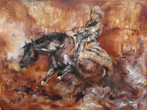 Edeldith, Turn me loose, Sport, Bewegung, expressiver Realismus, Abstrakter Expressionismus