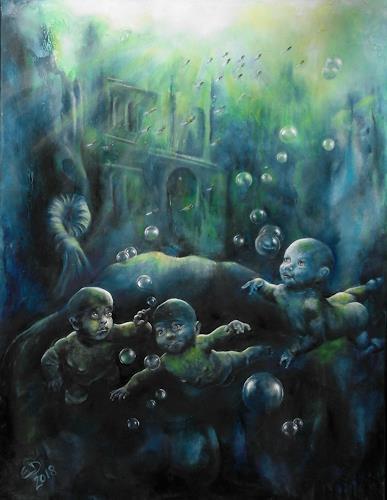 Edeldith, Die Zweitgeborenen, Mythologie, Fantasie, Postsurrealismus, Abstrakter Expressionismus