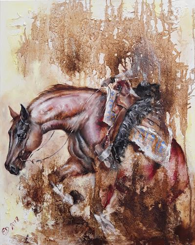 Edeldith, Suzies Ride, Tiere: Land, Sport, expressiver Realismus, Expressionismus