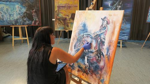 Edeldith, Live Painting, Menschen, Tiere, expressiver Realismus