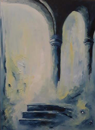 Edeldith, Architekturphantasie, Fantasie, Landschaft, Romantik, Expressionismus