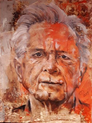Edeldith, Portrait, Menschen, Menschen: Porträt, expressiver Realismus, Abstrakter Expressionismus