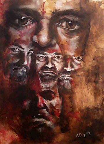 Edeldith, Das Andere in mir, Menschen, Gefühle, Realismus, Abstrakter Expressionismus
