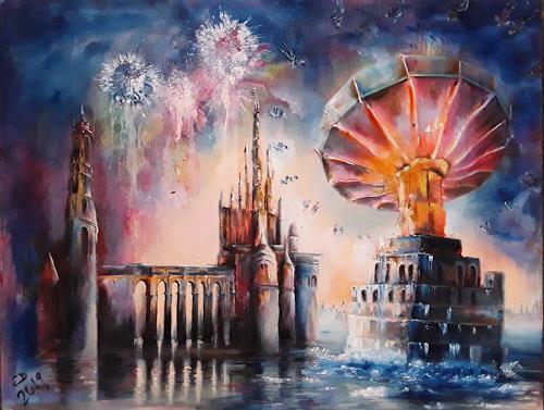 Edeldith, Die Auserwählten, Landschaft, Fantasie, Symbolismus, Expressionismus