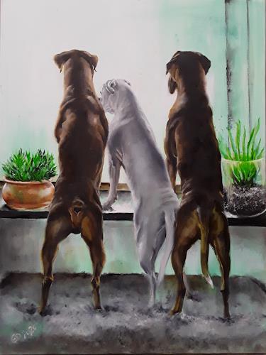 Edeldith, Draussen, Tiere, Natur, Realismus, Expressionismus