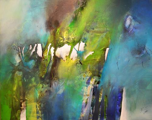 Bernadette Möllmann, Frühlingserwachen, Abstraktes, Abstrakte Kunst, Expressionismus