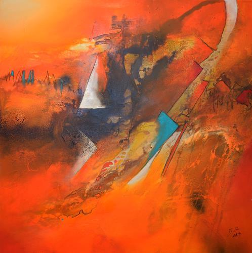 Bernadette Möllmann, Ich begleite dich ein Stück, Abstraktes, Abstrakte Kunst, Abstrakter Expressionismus