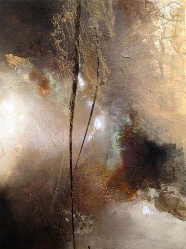 Bernadette Möllmann, Bäume im Nebel, Abstraktes, Abstrakte Kunst, Abstrakter Expressionismus