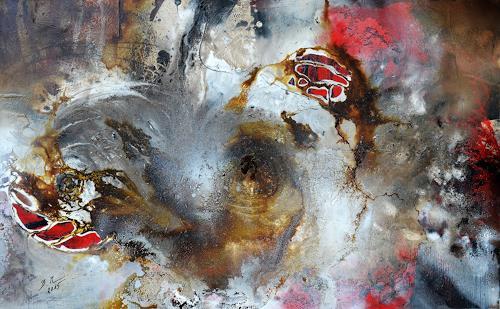 Bernadette Möllmann, Das Auge des Tornados, Abstraktes, Abstrakte Kunst, Abstrakter Expressionismus