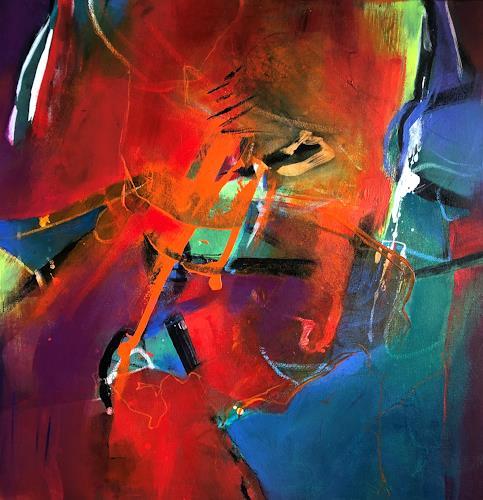 Bernadette Möllmann, Farbenspiel, Abstraktes, Informel, Abstrakter Expressionismus