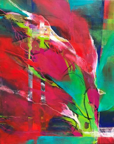 Bernadette Möllmann, Flower Power, Abstraktes, Informel, Abstrakter Expressionismus