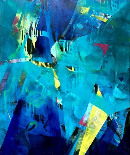 Bernadette Möllmann, Kraft, Abstraktes, Action Painting