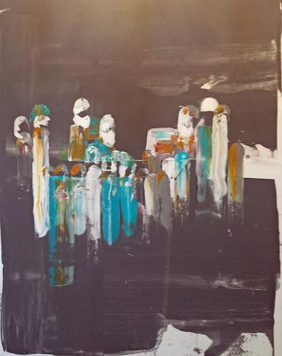 Jo, Vollmond, Abstraktes, Abstrakter Expressionismus