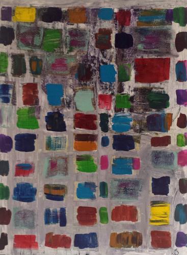 Jo, Cluster, Dekoratives, Abstrakter Expressionismus
