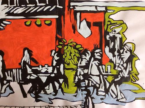 eugen lötscher, sternen zürich oerlikon, september 2014, Menschen: Gruppe, Gesellschaft, Gegenwartskunst, Abstrakter Expressionismus