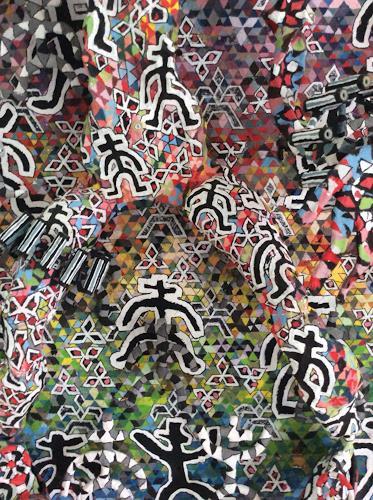 eugen lötscher, wargames (detail), Gesellschaft, Diverse Menschen, Gegenwartskunst