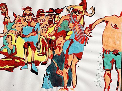 eugen lötscher, street parade zürich, august 2014, Freizeit, Party/Feier, Gegenwartskunst, Abstrakter Expressionismus