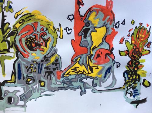 eugen lötscher, 30. oktober 2014, wenn billy mit lilly, Menschen, Diverse Gefühle, Gegenwartskunst
