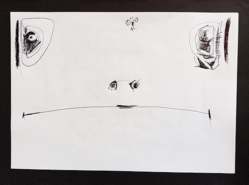 eugen lötscher, telefonzeichnung, schnapp sie dir, 18. november 2014, Jagd, Essen, Gegenwartskunst