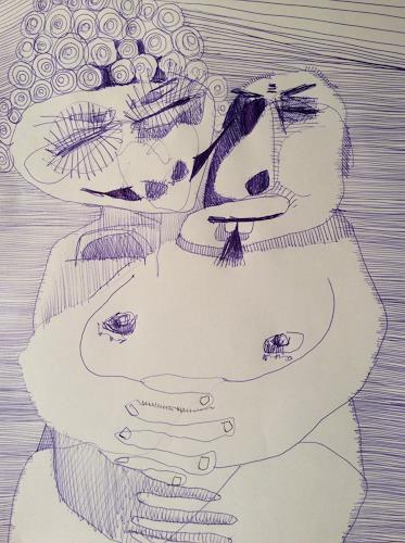 eugen lötscher, wir zwei, 5. februar 2015, Menschen: Paare, Gesellschaft, Gegenwartskunst, Abstrakter Expressionismus