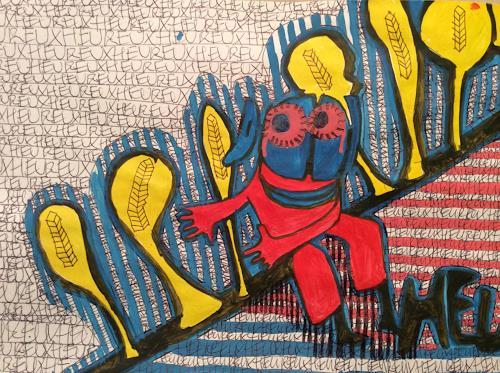 eugen lötscher, heureux, 6. februar 2015, Menschen: Mann, Gefühle: Freude, Gegenwartskunst, Abstrakter Expressionismus